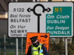 Gardai at the border crossing between Northern Ireland and the Republic of Ireland (Brian Lawless/PA)