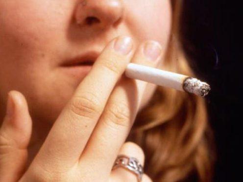 Undated handout file photo of a woman smoker.