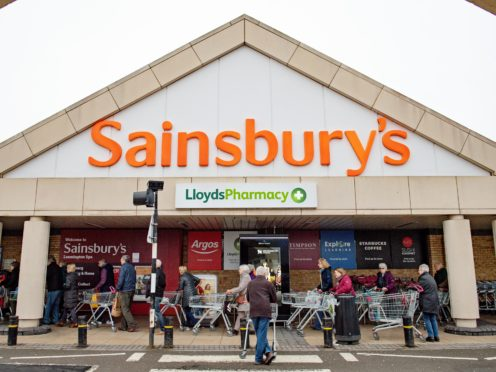 File photo dated 19/03/20 of Sainsbury's supermarket in Leamington Spa, Warwickshire. Sainsbury's is to announce it is cutting more than 3,000 jobs as England enters its second national lockdown, according to reports.
