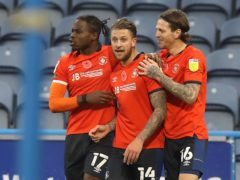 George Moncur (centre) equalised before Luton took the lead (Martin Rickett/PA)