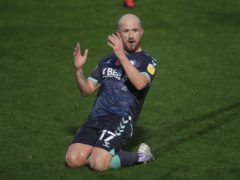 Paddy Madden scored twice for Stockport (Mike Egerton/PA)