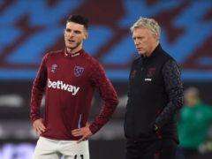 Declan Rice has flourished under West Ham manager David Moyes (Adam Davy/PA)