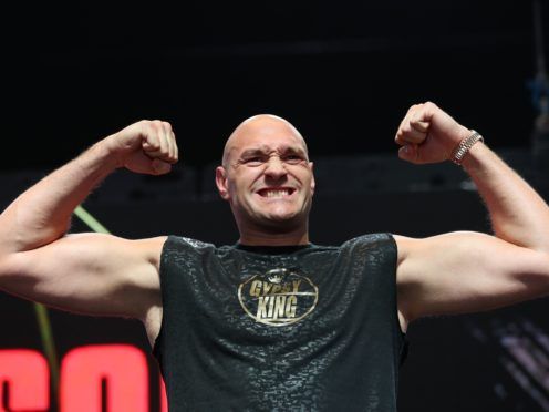 Tyson Fury took part in an Easter-themed workout (Bradley Collyer/PA)