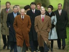 The Duke of Edinburgh with members of his family