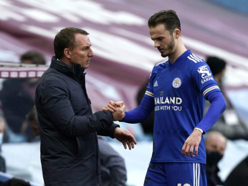 Brendan Rodgers will welcome back James Maddison on Saturday (Tim Keeton/PA)