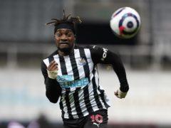 Newcastle's Allan Saint-Maximin could return from injury against Tottenham (Owen Humphreys/PA)