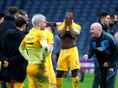 Livingston manager David Martindale (right) admits the pressure is on his side (Andrew Milligan/PA)