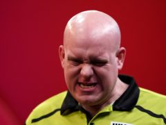 Michael Van Gerwen rescued a draw on the opening night of the Unibet Premier League (Zac Goodwin/PA)