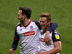 Eoin Doyle (right) scored Bolton's winner against Harrogate (Simon Marper/PA)