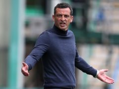 Jack Ross wants Hibernian to finish third (Andrew Milligan/PA)