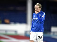 Everton midfielder Tom Davies admits dropping points again is frustrating (Peter Powell/PA)