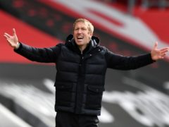 "Boss Graham Potter says he would go ""insane"" by thinking how many points Brighton need for Premier League survival (Glyn Kirk/PA)"