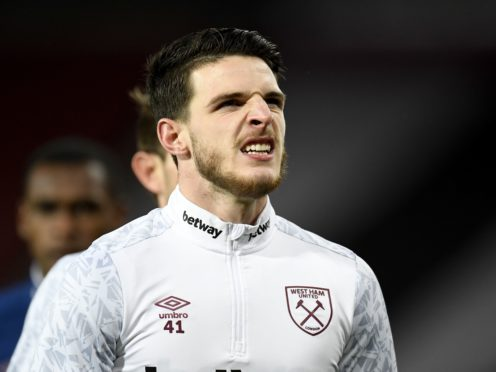Declan Rice has been linked with Manchester United (Peter Powell/PA)