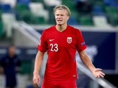 """Thomas Tuchel believes the agent of Erling Haaland, pictured, is creating a """"race"""" for the Borussia Dortmund striker (Liam McBurney/PA)"""