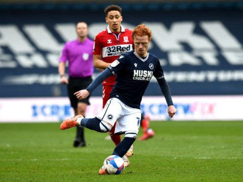 Millwall midfielder Ryan Woods is available for the home game with Swansea (Kirsty O'Connor/PA)