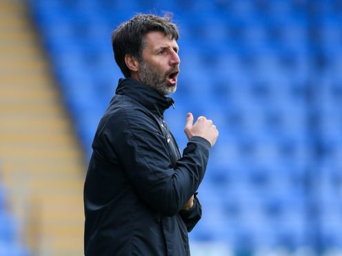 Danny Cowley is now focusing on securing a top-six finish (Barrington Coombs/PA)