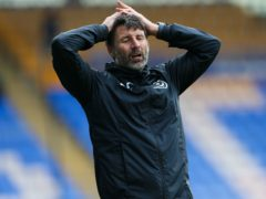 Danny Cowley was not pleased with what he saw (Barrington Coombs/PA)