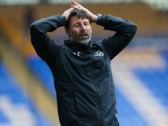 Danny Cowley suffered his first defeat as Portsmouth boss (Barrington Coombs/PA)
