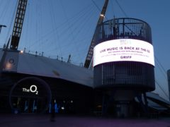The O2 Arena in London will play host to a live crowd for the Brit Awards in May (George Rees Williams/PA)