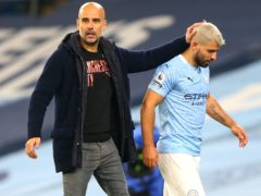Pep Guardiola (left) would not mind if Sergio Aguero (right) joined a Premier League rival (Alex Livesey/PA)