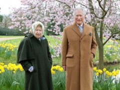 The Queen and Prince of Wales in the gardens of Frogmore House in Windsor (Chris Jackson/PA)
