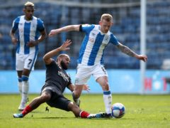 Lewis O'Brien, right, opened the scoring for Huddersfield against Brentford (Tim Goode/PA)