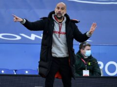 Pep Guardiola has urged his Manchester City side to get on the front foot against Borussia Dortmund (Rui Vieira/PA)
