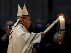 Pope Francis celebrates the Easter Vigil (Remo Casilli/Pool photo/AP)