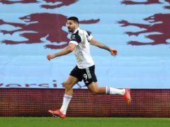 Aleksandar Mitrovic celebrates scoring on his Fulham return against Aston Villa (Richard Heathcote/PA)