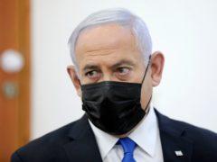 Israeli Prime Minister Benjamin Netanyahu attends a hearing (Abir Sultan/Pool Photo via AP)