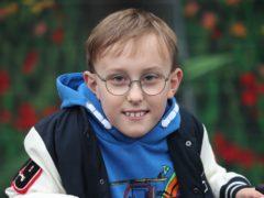 Inspirational fundraiser Tobias Weller (Danny Lawson/PA)