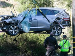 Tiger Woods was driving well over the speed limit when he crashed (Ringo H.W. Chiu/AP)