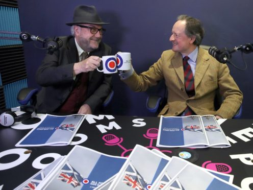 George Galloway, left, said there would be 'unstoppable' demand for parts of Scotland to remain in the UK if Scots vote for independence (Andrew Milligan/PA)