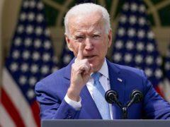 US President Joe Biden speaks about gun violence prevention in the Rose Garden at the White House (AP/Andrew Harnik)