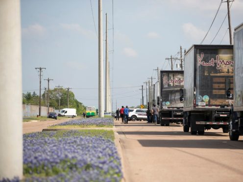 Police responded to a shooting at Kent Moore Cabinets in Bryan, Texas (Cassie Stricker/AP)