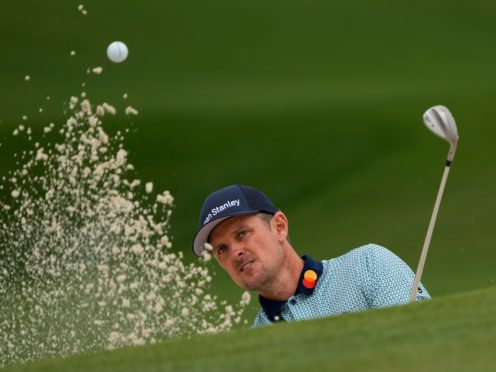 Justin Rose added a 72 to his opening 65 in the Masters (Gregory Bull/AP)