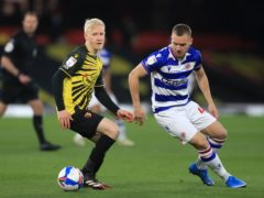 George Puscas squandered a good chance in Reading's 2-0 loss at Watford (Adam Davy/PA)