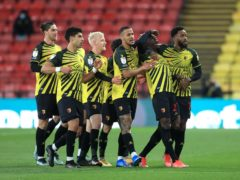Ismaila Sarr, second right, found the target twice as Watford defeated Reading (Adam Davy/PA)
