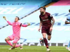 Stuart Dallas struck a dramatic winner for Leeds at the Etihad Stadium (Michael Regan/PA)
