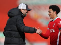 Trent Alexander-Arnold's added-time winner gave Jurgen Klopp's side a much-needed confidence boost ahead of their Champions League tie against Real Madrid (Clive Brunskill/PA)