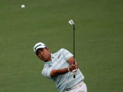 Hideki Matsuyama took a four-shot lead into the final round of the 85th Masters (David J Phillip/AP)