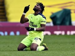 Allan Saint-Maximin made one goal and scored the other in Newcastle's 2-1 win at Burnley (Stu Forster/PA)