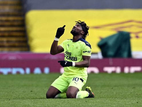 Allan Saint-Maximin came off the bench to inspire Newcastle to victory over Burnley (Stu Forster/PA)