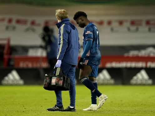 Bukayo Saka, right, was one of two injury concerns for Arsenal after victory over Sheffield United (Tim Keeton/PA)
