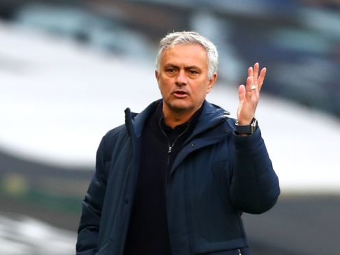 Tottenham manager Jose Mourinho saw his side surrender a lead again on Sunday (Clive Rose/PA)
