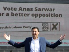 Scottish Labour leader Anas Sarwar has urged voters to back his party on both the constituency and regional list ballots to deprive the SNP of a majority (Andrew Milligan/PA)
