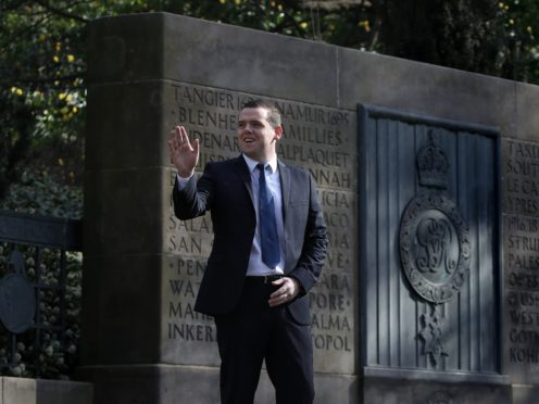 Tory leader Douglas Ross has unveiled his party's infrastructure plan (Andrew Milligan/PA)