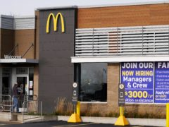 A hiring sign outside of McDonald's in Buffalo Grove, Illinois (Nam Y Huh/AP)