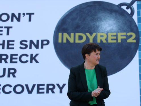 Former Scottish Conservative leader Ruth Davidson said Nicola Sturgeon's drug deaths comments were 'astonishing' (Andrew Milligan/PA)