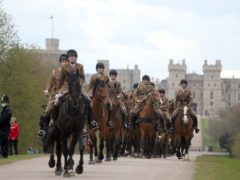 The King's Troop Royal Horse Artillery on the Long Walk, Windsor Castle (Steve Parsons/PA)